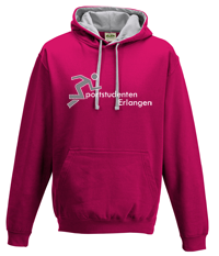 Bild: Pulli - Hot Pink/Heather Grey